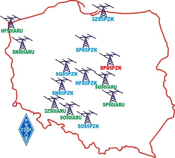 85 lat PZK - stacje